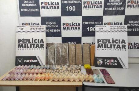 Rotam intercepta trio durante venda de droga no bairro Centro América