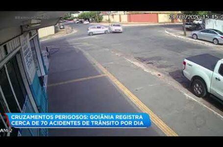 Acidente m cruzamento em Goiânia