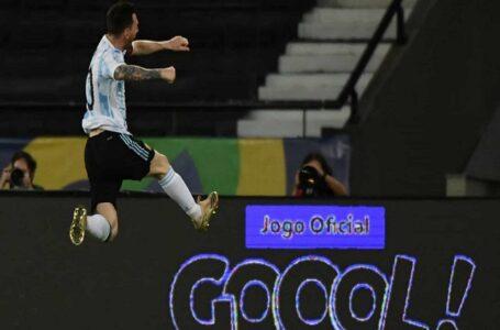 Messi faz golaço e inicia busca por taça inédita pela Argentina com empate contra o Chile