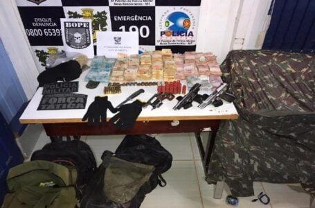 Forças de Segurança já recuperaram R$ 288 mil e identificaram 8 suspeitos de roubo a cooperativas