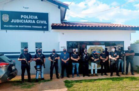 Homem com mandado por violência doméstica é preso pela Polícia Civil após disparo de arma de fogo