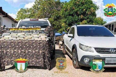 Gefron prende três pessoas com 47 kg de drogas no Rio Paraguai