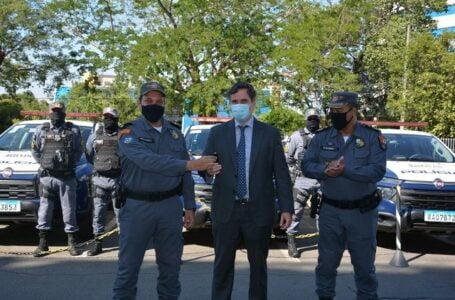 Batalhão Fazendário recebe viaturas e armas para reforçar policiamento nas fiscalizações