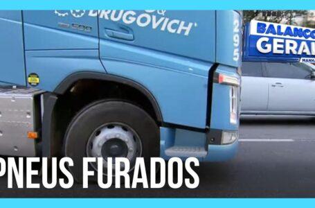 Manifestante bolsonaristas começam a furar pneus de carretas nas rodovias