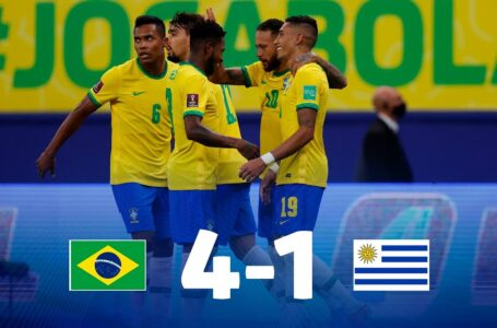 Eliminatórias Brasil 4×1 Uruguay