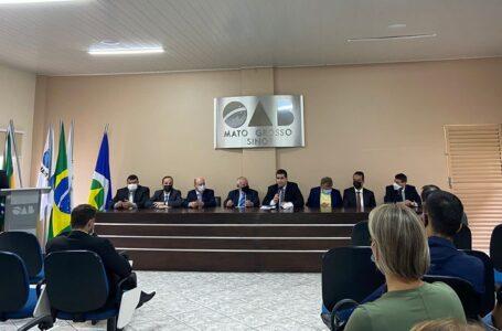 Representantes da OAB Sinop e região pediram ao corregedor-geral da Justiça reabertura total do fórum